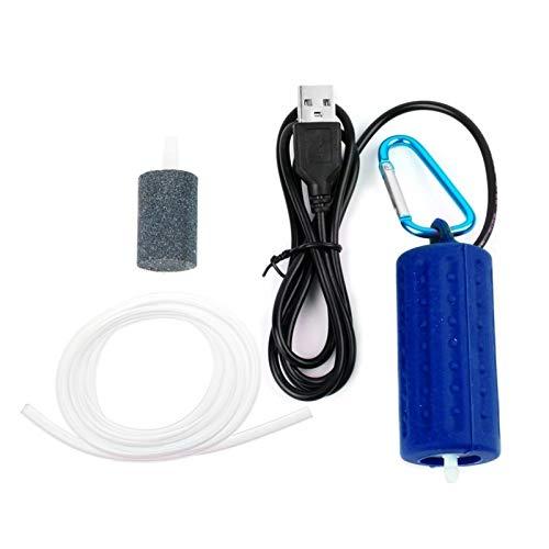 AAJTCT Luchtpomp voor aquarium, USB-mini-luchtpomp voor aquarium, zuurstoffilter voor visserij, zeer stil, hoge efficiëntie, aquarium, accessoires voor aquarium