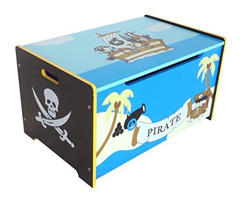 Kiddi Style les enfants Bois Boite de Rangement Jouets Coffre au Trésor Pirate