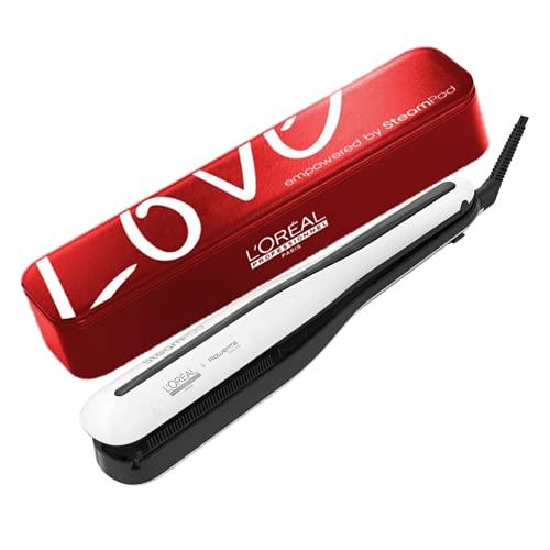 Steampod 3.0 | Edition Limitée Love | Lisseur Vapeur Professionnel 2-en-1 : Lissage & Wavy | Technologie Vapeur | Vanity Love en similicuir grainé | L Oréal Professionnel