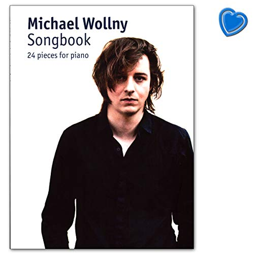 Michael Wollny Songbook: 24 pieces for piano - mit bunter herzförmiger Notenklammer
