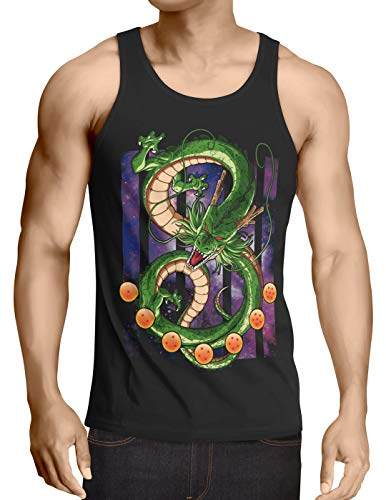 style3 Shenron Dragon Débardeur Homme Tank Top shenlong sacré Z Goku Vegeta Roshi Ball, Taille:M