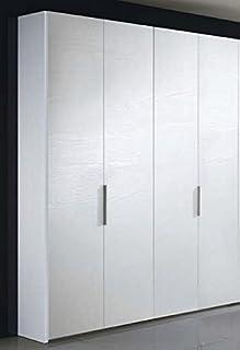 liderasta pordenone Armoire 4 portes Blanc frêne à pores ouvert