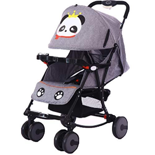 DYFAR Mode Vier Jahreszeiten Kinderwagen Falten Hoch Landschaft Kleinkinder Kinderwagen Bidirektionale Neugeborenen Kinderwagen Geeignet für Kinder 0-3 Jahre alt, Gray