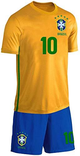 Blackshirt Company Brasilien Kinder Trikot Set Fußball Fan Zweiteiler Gelb Blau Größe 164 Größe 164