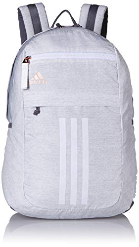 adidas Unisex League 3 Stripe Backpack, Jersey White/Rose Gold, ONE SIZE