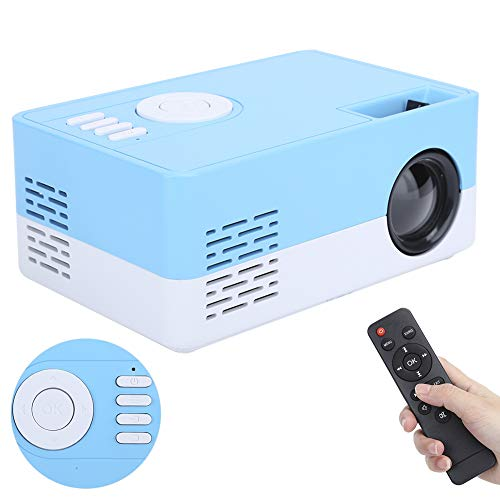 FOLOSAFENAR Proyector de Alta definición Completa, Salida de Audio de 3,5 mm Proyector 1080p para Cine en casa Inteligente.Compatibilidad Amplia, para HDMI/AV // USB/SD(Blue)