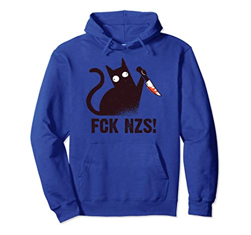 FCK NZS Lustige Katze | Gegen Rassismus Faschismus Fck Nzs Pullover Hoodie