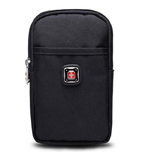 ZXL Ultradunne tas voor heren voor mobiele telefoon, riemtassen, sporttas, canvas