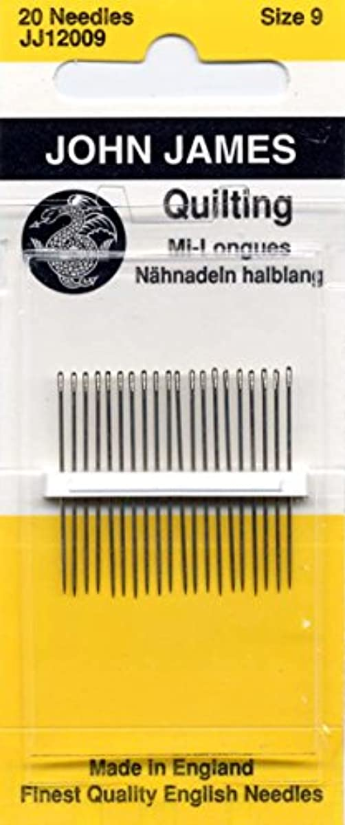 Colonial Needle 20 Count John James Between Quilting Needles, Size 9