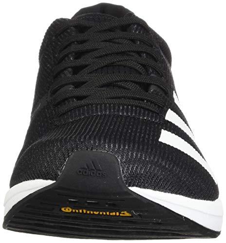 adidas Men's Adizero Boston 8 Running Shoe, Black/White/Grey, 12 M US 3