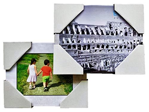 Jasel 40 Stück verstellbare Kartonecken Kantenschutz aus 3-lagigem Verpackungsmaterial für Bilderrahmen, Kunstwerk, Buchalbum beim Versand, Verpacken, Aufbewahren oder Umzug, Tiefen 0,5-1-1,5 Zoll