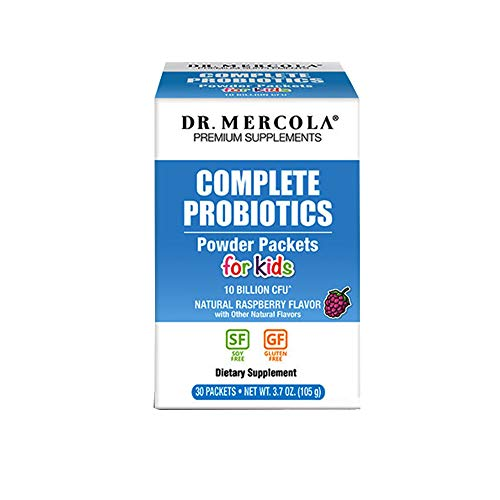 Dr. Mercola, Complete Probiotics Powder Packets for Kids, (10 Billion CFU) 30 Servings (30 Packets), non GMO, Soy-Free, Gluten Free