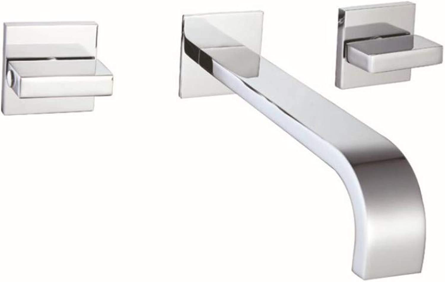 Basin Tap Built-in Double Handle Double Open Concealed Hot and Cold Water Basin Faucet 3 Piece Set Faucet