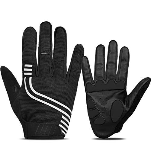 Asolym Handschuhe Mountain Road Fahrräder Motorräder Reiten Vollfinger-Touchscreen rutschfeste tragbare Handschuhe,Silber,M