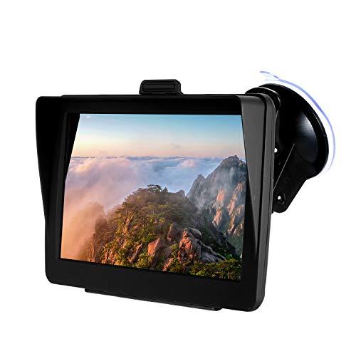 KKmoon GPS para Coche de 7 Pulgadas, GPS Navegador Tableta Reproductor de Audio Multimedia con Soporte,HD Pantalla Táctil 8GB 256MB + Gratis de Mapa