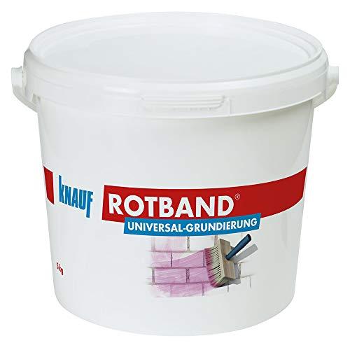 Knauf 4006379074440 Rotband Universal-Grundierung für optimale Haftung von Grundputzen und Spachtelmassen auf mineralischen Untergründen, Rosa, 5 kg