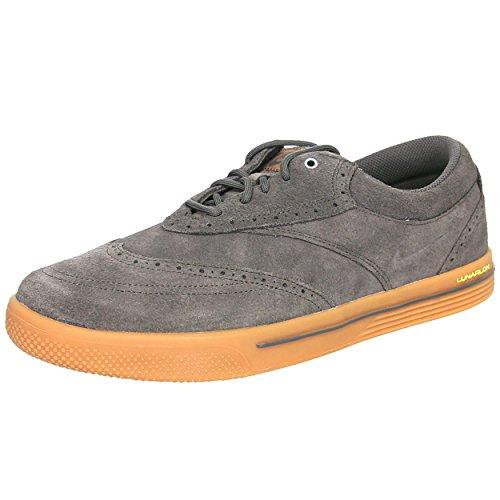Nike Golf Men's Nike Lunar Swingtip Suede-M, Ridgerock/Gum Med Brown/Volt/Ridgerock, 10 W US