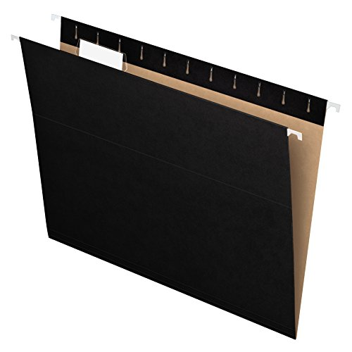 Pendaflex Recycled Hanging Folders, Letter Size, Black, 1/5 Cut, 25/BX (81605)