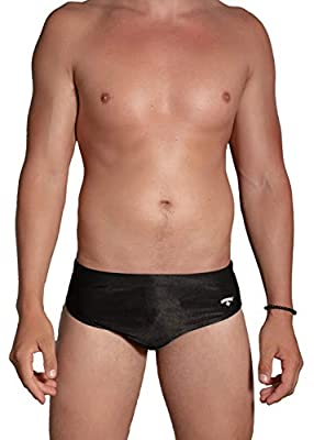 LIFEGUARD Officially Licensed Men's Swim Brief Short Designed for Performance (Black, XXL)