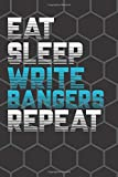 Eat Sleep Write Bangers Repeat: Rhyme Book Rap Journal Rapper Notebook Cool Songwriting Lyrics Journal Gifts For Composers, Rappers, Musicians, Girls, ... Notebook (110 Pages, Blank, Lined, 6 x 9)