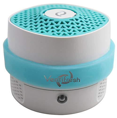 VentiFresh ECO Compact Air Purifier - Source Air Cleaner for Toilet, Cat Litter Box, Trash Can and Laundry - Filterless Air Purifier