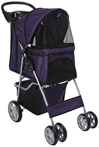 OxGord Pet Stroller Cat/Dog Easy Walk Folding...
