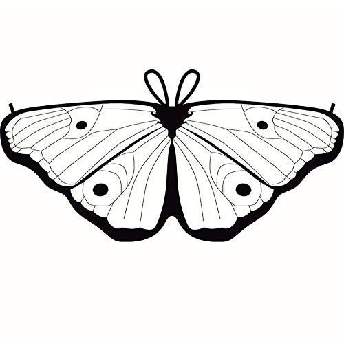 Battnot Schmetterling Kostüm DIY Mädchen Kinder Kreative Schmetterlingsflügel Bohemian Tanzzubehör, Karneval Party Cosplay Kleidung Poncho Fee Nymphe Pixie Elf Kostüm Zusatz Girls Butterfly Wings