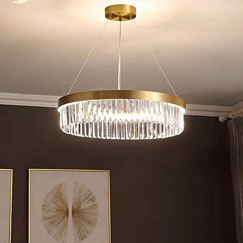 SWNN lámparas de araña Lámpara De Dormitorio Moderna De Lujo con Luz Simple De Cristal Lámpara De Cobre De Iluminación De Restaurante De Moda