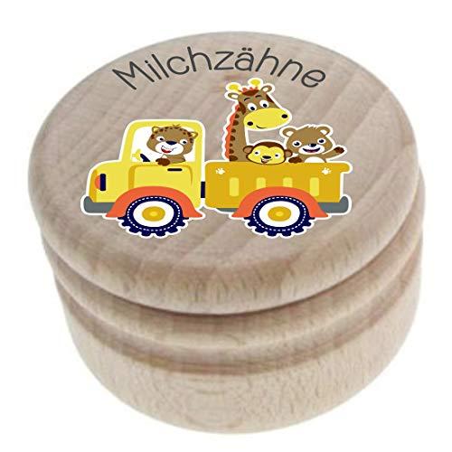 Milchzahndose aus Holz – Milchzähne – Die Zahnbox hat einen Deckel mit Schraubverschluss - perfekt als kleines Geschenk · Zahnfee - für Jungen & Mädchen – deutch