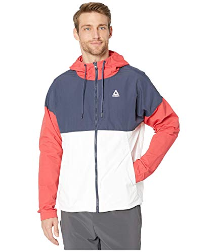 Reebok Training Essentials - Chaqueta Cortavientos, Talla pequeña, Color Rojo