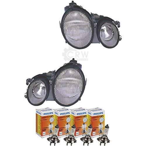 QR-Parts 69613755 Set Scheinwerfer links 1218432 + Scheinwerfer rechts 1218433 + PHILIPS H7 Vision +30% 12972PRC1 (4-Stück)