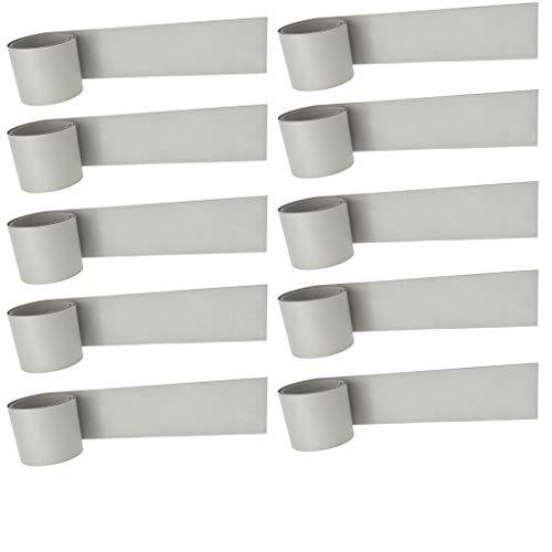 freneci 10 Piezas Impermeable Bote Inflable Bote Rib Mid PVC Parche de Reparación 51x1000mm