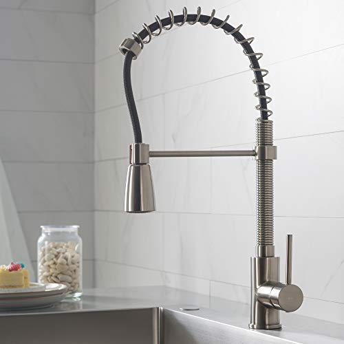 Kraus KPF-1612SS Single Lever Pull Down Kitchen Faucet in...