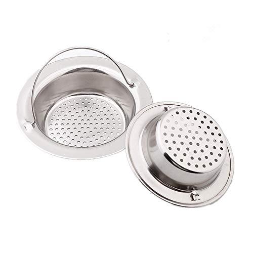 N\A Filtro per Lavello in Acciaio Inox, Filtro di Scarico Filtro di Scarico Lavello Cucina e Bagno, Filtro Acqua Filtro Universale per lavello con Manico (2pz) 4,33'/11cm (Grande)