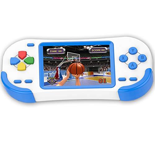 Bornkid 16 Bit Handheld Spielekonsole für Kinder und Erwachsene mit Integriertem 220 HD Videospiel 3,0 Zoll Seniors Electronic Handheld Spiele Jungen Mädchen Geburtstags Geschenk (Blau)