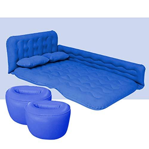 DALIBAI Cama de colchón de Aire Cama Viaje portátil, Camping, Vacaciones, Almohadilla de soplado for Dormir con Almohada Se Adapta a la mayoría de los Modelos de automóviles (Azul)