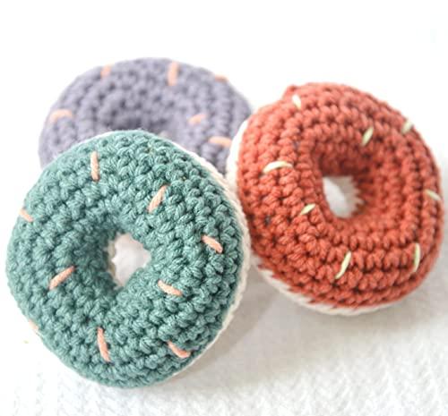Donut Cat Toys with Organic Catnip, Set of 3