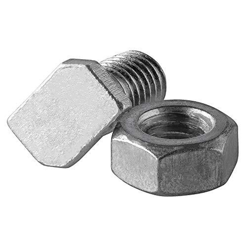 DANNYRIDIN 50x Aluminium M6 Hammerkopfschrauben mit Muttern für Gewächshaus - Perfektes Gewächshaus Zubehör