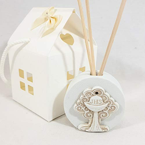 Diffusore d'ambiente bomboniere comunione albero della vita made in italy (diffusore+bacchette+scatola)