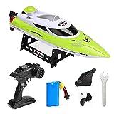 YLEI 2.4 Ghz RC Boot, 35 km/h High Speed Ferngesteuertes Boot Schnellboot, Wasserkühlung, Selbstaufrichtfunktion, tolles Spielzeuggeschenk für Erwachsene, Kinder,Grün