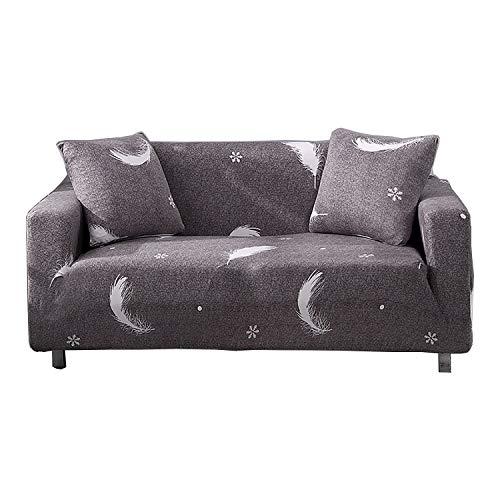 BHAHFL Fundas elásticas para sofá de 1 Pieza - Fundas para sofá con Estampado de poliéster y Spandex - Funda/Protector para Muebles para sofá con Base elástica y Espuma,B,1Seater