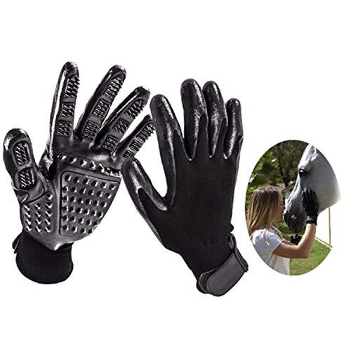Longzhuo Pet Grooming Handschuhe, 1 Paar Pet Five Fingers Gummi Massage Care Handschuhe für Hunde Katzen Pferde Shedding Handschuhe Pinsel, Badehandschuhe Hund