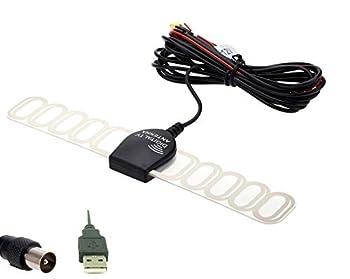 Eximtrade Car Analog TV Digital TV DVBT ATSC ISDB Radio FM Antenna Signal Amplifier for Car DVD Stereo  IEC + USB