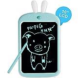 Richgv Tableta de Escritura LCD de 10 Pulgadas, Pizarra de Colores con Bloqueo de Pantalla Tableta de Dibujo Portátil Mini Pizarra Almohadilla de Escritura Adecuada para Niños y Adultos(Conejo)