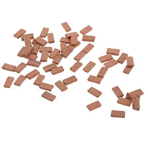 D DOLITY 35er-Set 1.1x0.6cm Backsteine Steine für Baukasten Modellbau