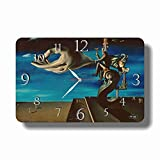 dudkaair Salvador Dalí 11'' x 18' Handmade Wall Clock - Get Unique décor for Home or Office – Best Gift Ideas for Kids, Friends, Parents and Your Soul Mates