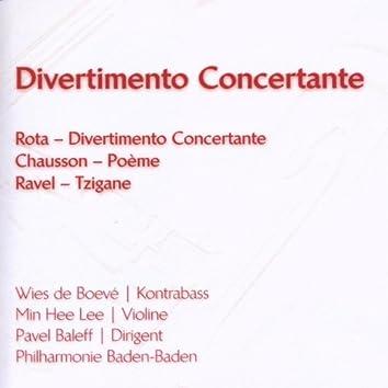Rota: Divertimento Concertante - Chausson: Poème - Ravel: Tzigane