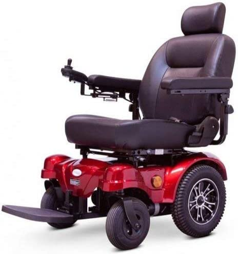 EWheels EW-M51 Heavy Duty Max 62% San Francisco Mall OFF Red Chair Mobility Power