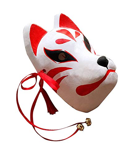 Agaruu - Máscara de zorro japonés para cosplay