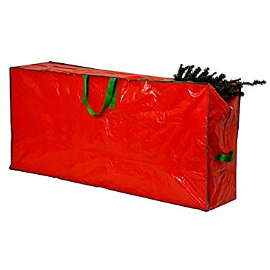 Christmas Tree Storage Bag - 65  x 15  x 30  - Extra Large Zippered Bag with 2 Reinforced Handles. Stores a 9-foot Disassembled Christmas Tree. Protects against Dust, Insects, and Moisture. (Red)